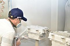 压铸件表面处理:喷粉、喷漆