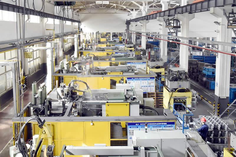 压铸加工厂-压铸车间全景