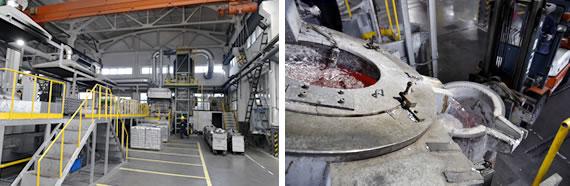 压铸生产制造工艺流程-ALUMINUM INGOTS MELT AND SLAG EXHAUST