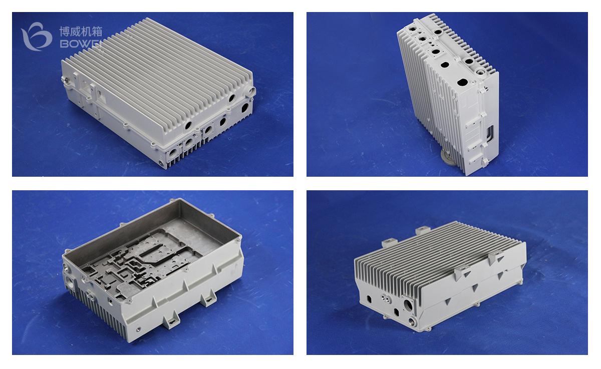铸铝通信散热机箱-大功率铝合金散热机箱