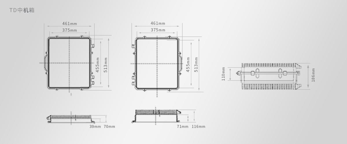 通讯直放站机箱○直放站近端机和远端机箱尺寸图纸